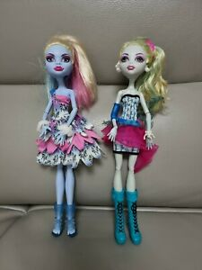 Monster High Dot Dead Gorgeous Abbey Bominable and lagoona blue Doll Mattel