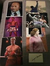 SYLVESTER STALLONE ROCKY SIGNED  Autographs Talia Shire Burgess Meredith Plus 4