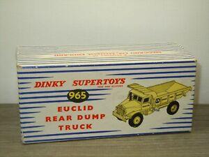 Original Empty Dinky SuperToys Box - Euclid Rear Dump Truck - 965 *51594