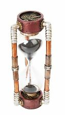 6.13 Inch Steampunk Inspired Sand Timer Hourglass Statue Figurine
