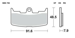 BENDIX FRONT BRAKE PADS. SUIT LATE BUELL XB 12 R, S, SS, 2004-2008