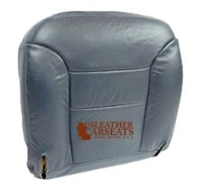 1995-1999 Sierra Yukon Tahoe Passenger - Bottom Leather Seat Cover Navy Blue