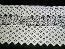 Spitze Spitzenband Klöppelspitze 100% Baumwolle weiß 20cm breit  Spitzenborte