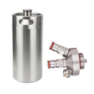 Stainless Keg Beer Growler Spear Taps Dispenser for Beer growler+ 5L Keg