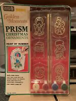 Vintage Craft House Prism Christmas Ornaments Stained Glass Paint By Number New
