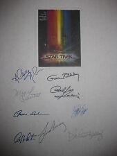 Star Trek The Motion Picture Signed Script X9 Leonard Nimoy William Shatner rpnt