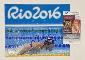 Michael Phelps Signed 8x10 Olympic Swimming Photo Autographed JSA COA