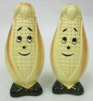 Vintage Anthropomorphic Ear of Corn Salt & Pepper Shakers - Japan