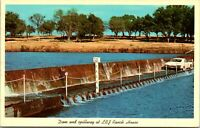 1967 Vintage postcard LBJ Ranch House Dam Spillway Pedernales River - Unused