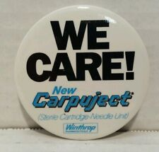 Vintage Mid 1980's Carpuject Pharmaceutical Button Collectible