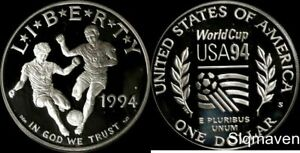 1994 S World Cup Silver Dollar Gem Proof No Reserve