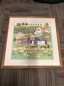 """""""Apple Butter Makers"""" by Charles Wysocki, Offset Lithograph on Paper, 591/1000"""