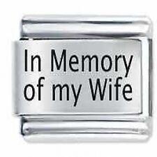 IN MEMORY OF MY WIFE - Daisy Charms JSC Fits Classic Size Italian Charm Bracelet