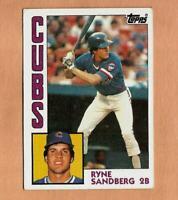 1984 topps RYNE SANDBERG CARD #596 Vintage Baseball Chicago Cubs MLB