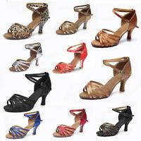 New Women Girl lady's Ballroom Tango Latin Dance Shoes Dancing heeled Salsa