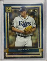 BRENDAN McKAY 2020 ROOKIE TOPPS MUSEUM COLLECTION CARD TAMPA BAY RAYS #d/150 RC