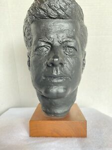 Vintage John F Kennedy JFK Bust Statue.