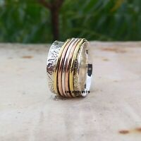 925 Sterling Silver Ring Spinner Ring Meditation Ring Statement Ring Jewelry A12
