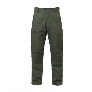 Rothco 5935 Olive Drab Rip-Stop BDU Pants - All Lengths