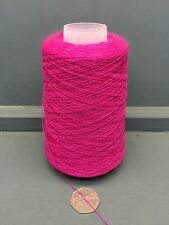 200G CERISE PINK COLOUR 2/28NM WORSTED WOOL YARN CERISE