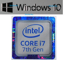 Intel Core i7 Gen 7 Free Windows 10 Ordinateur PC Sticker Genuine Vista 8 XP Vista