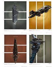 Eve Online Battlecruisers Art Print Set