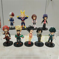 9pcs My Hero Academia Todoroki Shouto All Might Kirishima Eijiro Figure Model