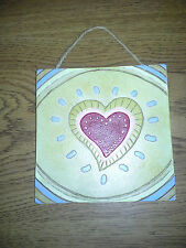 """New Resin Wall Plaque with Heart 5 1/2"""""""