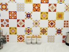Tile Stickers Pack Of 48 Mosaic Mexican  Azulejo, 200mm x 200mm / 8 x 8 Inch C13