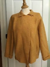 EILEEN FISHER Yellow Felted Wool Single Button Jacket/coat M