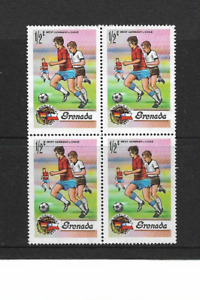 1974 Grenada Grenadines - World Cup - Block of Four - Mounted Mint.