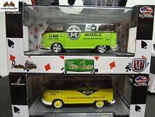 M2 Machines 1960 Volkswagen VW Delivery Van Set of 2 Wild Cards WC09