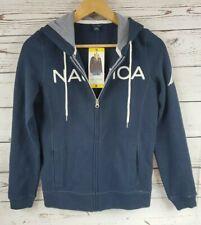 Nautica Women's Signature Logo Full Zip Hoodie Sweatshirt Spell Out NAVY 1174