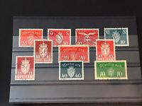 GandG Stamps Norway BOB Official Offentlig Off. Sak Used Selection Lot