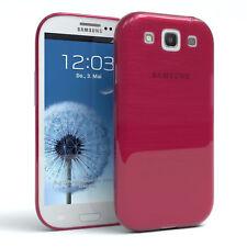 Schutz Hülle für Samsung Galaxy S3 / Neo Brushed Cover Handy Case Pink
