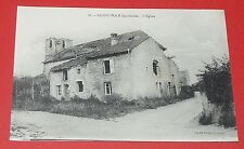 CPA CARTE POSTALE GUERRE 14-18 SAINTE-POLE 54 BOMBARDEMENT L'EGLISE