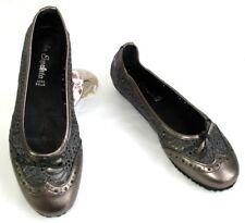 LOLA ESPELETA ballerine pelle bronzo & grigio 37 NUOVO