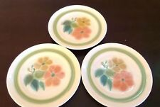 Franciscan  Bread & Butter Plates x3 Multicolor/Flowers/Green Band Floral