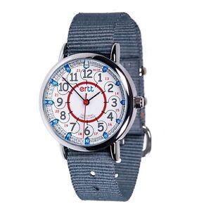 EasyRead Time Teacher Red/ Blue 24 Hour Watch - Grey strap (ERW-RB-24-GR)