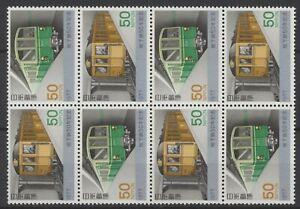 [P25093] Japan 1977 trains good set very fine MNH stamps X4