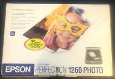 Epson Perfection 1260 PHOTO Flatbed Scanner + 35mm Film Slide, Power +USB Cord
