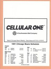 Chicago Bears 1991 Season Ticket Holder Schedule Nr Mint condition Soldier Field
