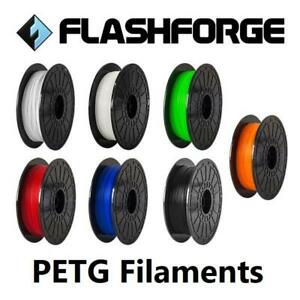 Flashforge PETG 3D Printer Filament 1.75mm 0.5KG Dreamer/Inventor/Finder + More