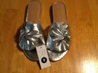 8de7e3f852d A New Day Women s Metallic Huntress Knotted Slide Mules Sizes 6 1 2 to 10