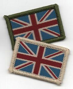 Union Jack UK British Flag Badge Patch Military 4 x 2.7cm Sew On or Hook Backing