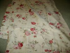 2 Standard Size Pillowcases...Waverly...Red Floral...100% Cotton