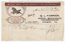G L Farrar Arrington VA 1918 Magic Food Co Letterhead #36