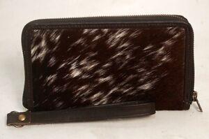Cowhide Wallet for Women Zip Clutch Purse Clutch Wristlet Wallets  SA-415