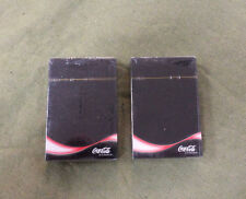 #D282. TWO  PACKS  OF SEALED  COCA  COLA  PLAYING CARDS
