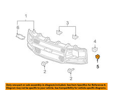GM OEM Front Bumper-Impact Bar U-nut 11609385